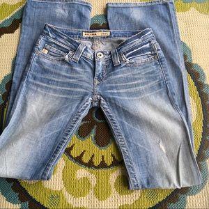 Distressed Ultra-low Jeans, BIG STAR 24R